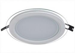 现代室内透明边缘圆形面板灯