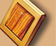 铜古色木纹单控开关