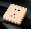 金色二三插孔插座