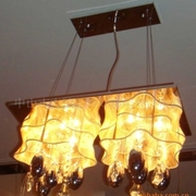 中式复古餐厅拉丝低压水晶灯