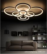 现代简约圆形客厅卧室餐厅过道灯创意个性灯饰LED亚克力吸顶灯