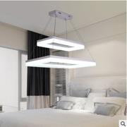 现代艺术LED吊灯时尚大气客厅灯具 长方形简约餐厅灯卧室书房灯饰