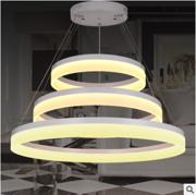现代简约LED餐厅吊灯 创意个性圆形客厅灯具卧室灯酒吧台餐厅灯饰