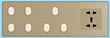 欧创源 轻触型开关OCY-QC601-3简约木质格调新型智能开关多孔插座