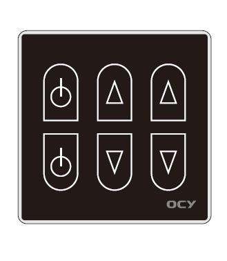 欧创源 金属拉丝面板简约黑色调光开关新型调节开关