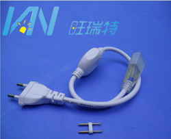 led柔性霓虹灯带配件高低压前接线堵头尾塞插针连接线