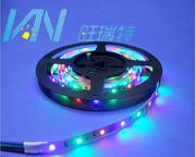 3V5VLED幻彩灯带3528电池灯带RGB彩色电池灯条电池盒软灯条