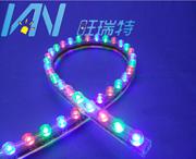LED防水长城软灯条96灯七彩PVC长城条汽车底盘装饰灯条