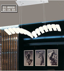 白色塑胶弧形饭厅餐厅吊灯