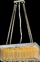 时尚共语 长方形流苏水晶吊灯