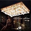 现代长方形客厅灯 LED吸顶灯圆形亚克力不锈钢现代灯