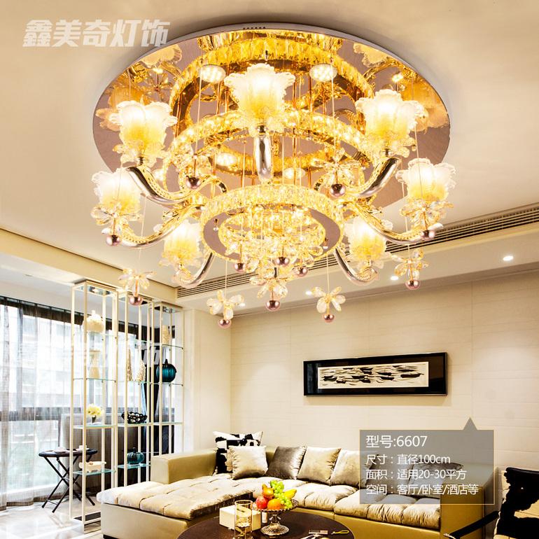 欧式奢华锌合金灯客厅卧室酒店吸顶灯