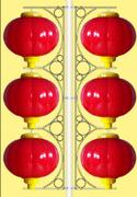 中腾 家居装饰 600mm3串灯笼