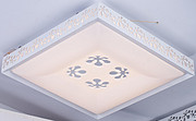 达芬尼简约铁艺亚克力吸顶灯花状镂空方形家居照明