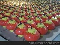 中式大红塑料LED装饰灯笼节日灯