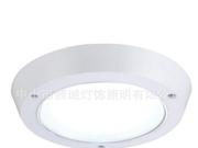 简约白色厨房圆形LED吸顶灯