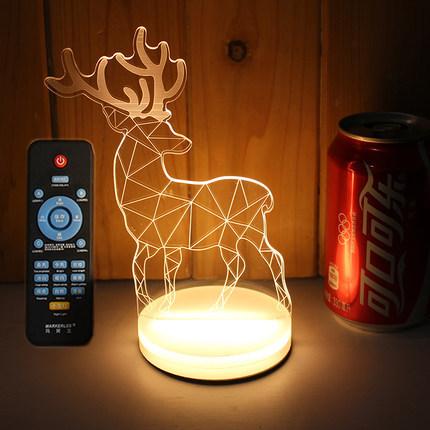 现代小鹿创意卧室小夜台灯