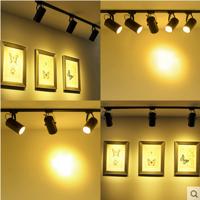 日宣led轨道灯滑道射灯服装店明装3w5w7w12w18w瓦背景墙灯导轨灯