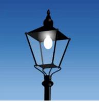 欧式复古铁艺户外LED路灯