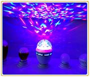 遥控LED小魔球 声控迷你水晶魔球灯 七彩旋转 舞台激光灯KTV酒吧