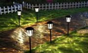 简约铁艺智能防水户外LED草坪灯