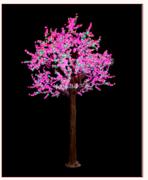 现代室外玻璃高防树-GFZ-4224粉花+绿叶景观灯