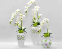 鸿光现代简约陶瓷插花花瓶欧式创意客厅白色干花器北欧家居装饰品摆件
