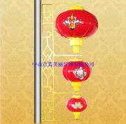 真美丽喜庆中式新款户外防水印花LED灯笼串