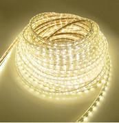 雷居双排5630 led灯带软贴片客厅超高亮180珠暖白光天花吊顶户外220v