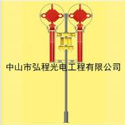 弘程现代不锈钢或铁架子中国结宫灯LED 中国结景观灯