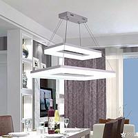 现代简约亚克力客厅餐厅厨房书房长方形LED家居照明吊灯