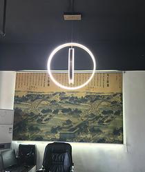 现代简约亚克力客厅餐厅厨房书房十字LED家居照明吊灯