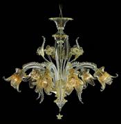 新中式花纹现代客厅水晶灯