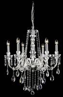 现代蜡烛透明客厅水晶灯