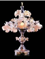 新中式粉色客厅花水晶灯