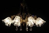 现代古铜客厅花式透明水晶灯