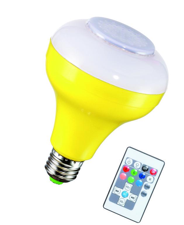 白、红、绿、黄5W蓝牙音乐灯泡升级款