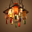 北欧酒瓶个性吧台吊灯
