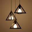 北欧三角形LED走廊三头吊灯