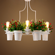 北欧创意盆栽客厅吊灯