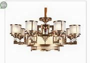 东韵达观现代铜本色室内新中式吊灯