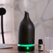 陶瓷纯色纹理智能加湿LED香薰灯