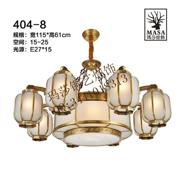 中式奢华客厅椭圆形铜吊灯