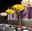 新中式手绘仿古茶楼吊灯