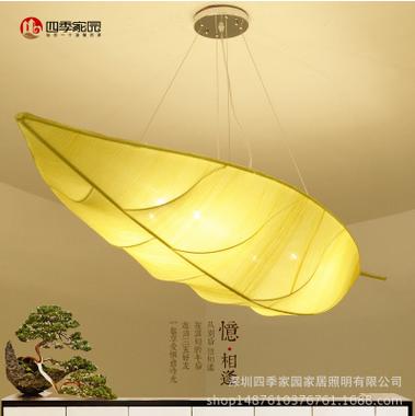 新中式现代叶子茶楼吊灯