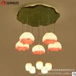 新中式现代荷花茶楼吊灯