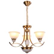 卡迈奇现代铜本色MD5007-3吊灯