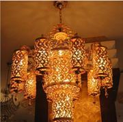 中式复古镂空暖光吊灯