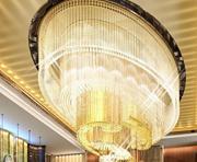 现代水晶暖光客厅吸顶灯