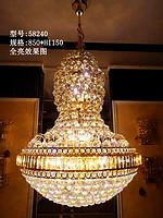 谛诺斯复式楼客厅大吊灯酒店工程别墅水晶灯现代中式楼梯灯